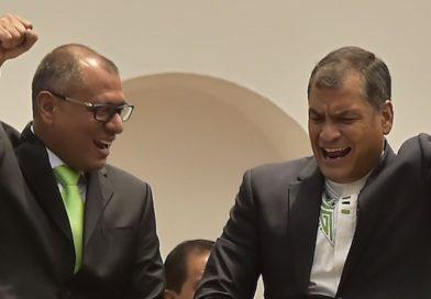 """Il tweet di Rafael Correa sull'arresto di Jorge Glas: """"Caso evidente di sfruttamento politico della giustizia"""""""